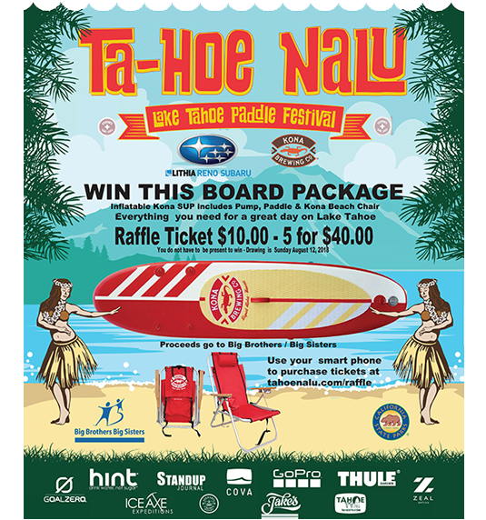 Ta-Hoe Nalu Board Package Raffle